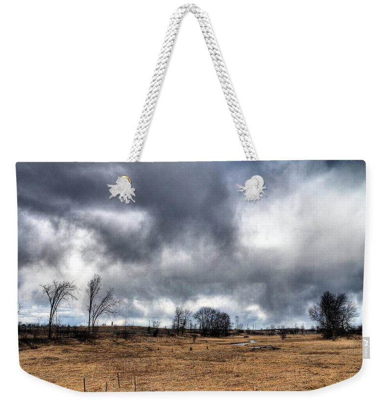 Acrylic Prints Weekender Tote Bag featuring the photograph Weather by John Herzog