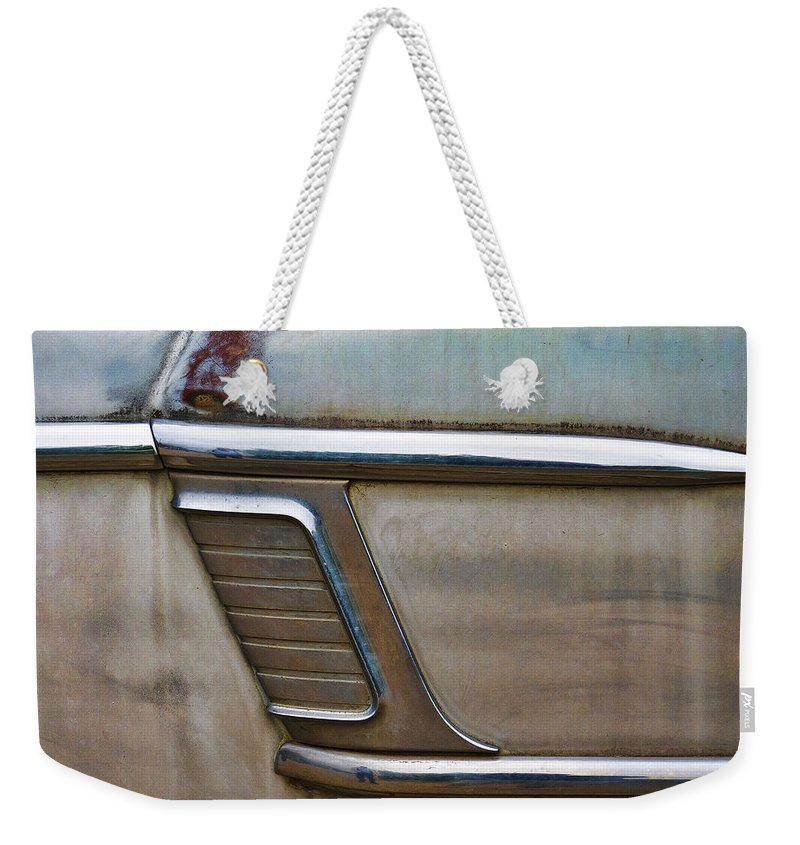 Vintage Weekender Tote Bag featuring the photograph Weathered But Still Cool by Carol Leigh