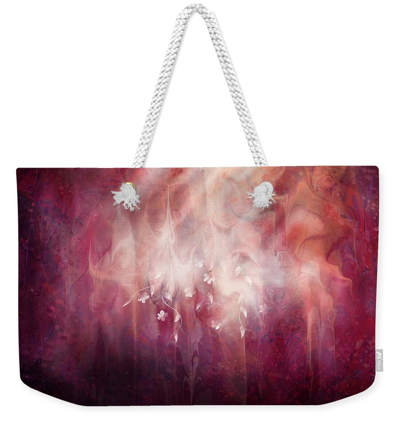 Landscape Weekender Tote Bag featuring the digital art Weight of Glory by William Russell Nowicki