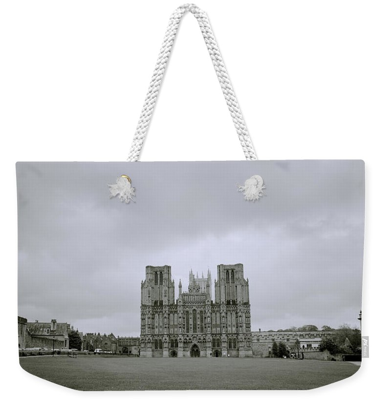 Inspiration Weekender Tote Bag featuring the photograph Wells Cathedral by Shaun Higson