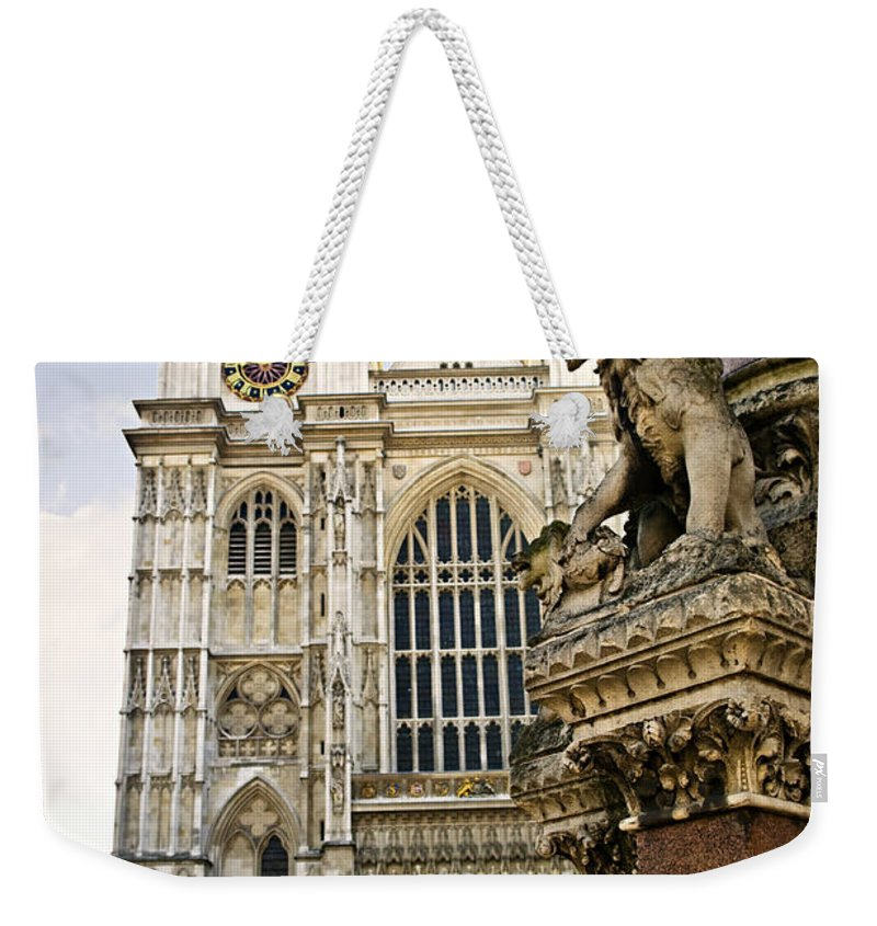 Westminster Weekender Tote Bag featuring the photograph Westminster Abbey by Elena Elisseeva