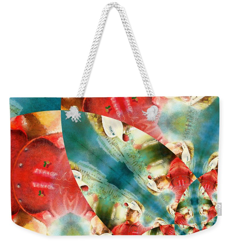 Golf Weekender Tote Bag featuring the painting Westwood Mania by Miki De Goodaboom