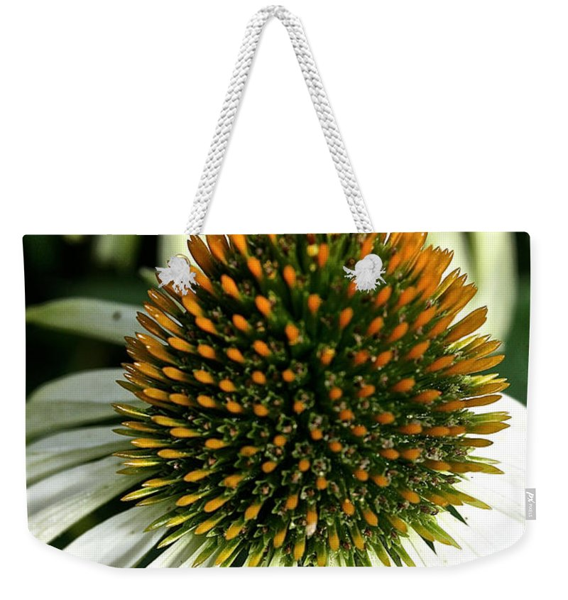 Plant Weekender Tote Bag featuring the photograph White Cones by Susan Herber