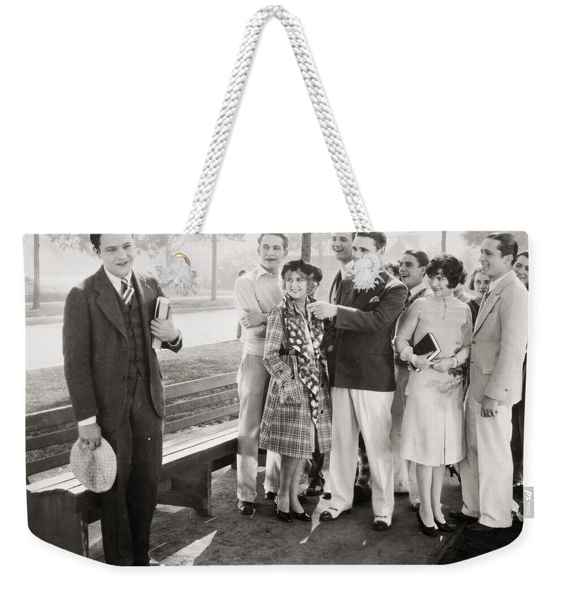 -groups & Mixed- Weekender Tote Bag featuring the photograph White Flannels, 1927 by Granger