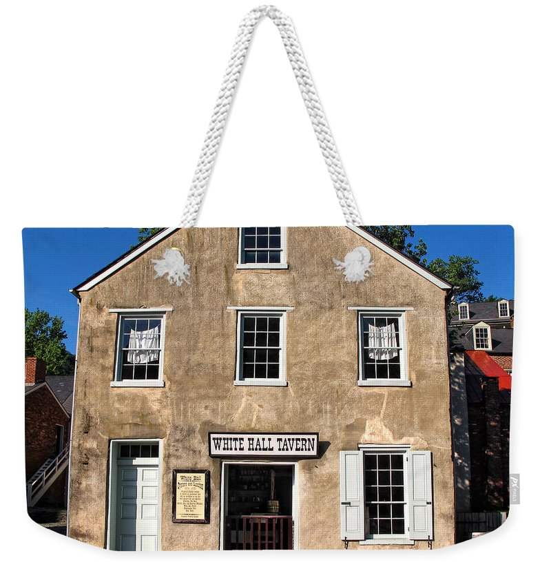 White Hall Tavern Weekender Tote Bag featuring the photograph White Hall Tavern Harpers Ferry Virginia by Dave Mills