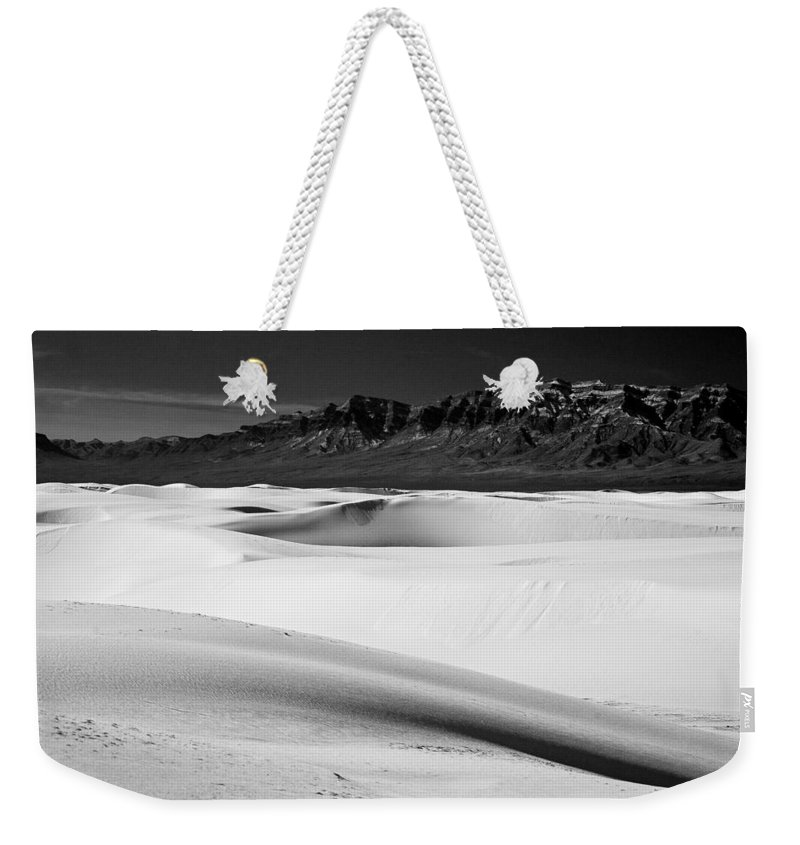 White Sands National Monument Weekender Tote Bag featuring the photograph White In White Sands by Ralf Kaiser