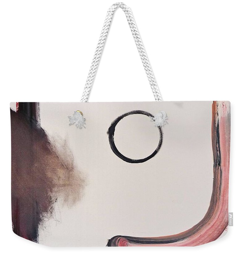 White Weekender Tote Bag featuring the painting White Kimono by Charles Stuart