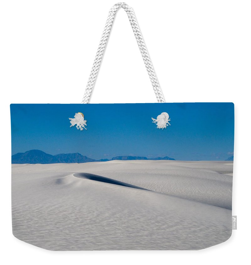 New Mexico Weekender Tote Bag featuring the photograph White Sands 1 by Sean Wray
