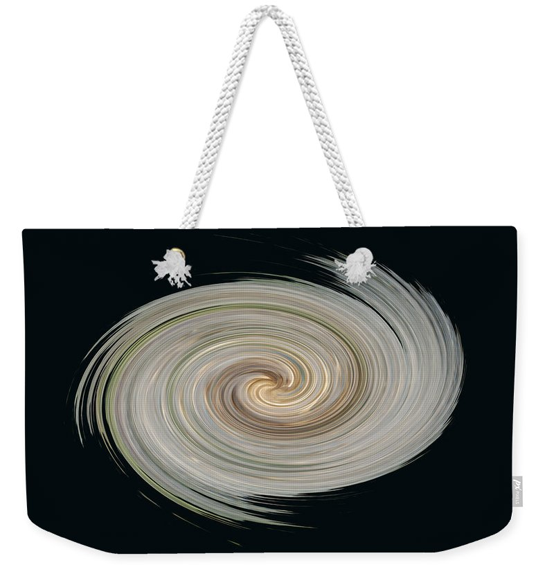 Abstract Weekender Tote Bag featuring the photograph White Spiral by Aimee L Maher ALM GALLERY