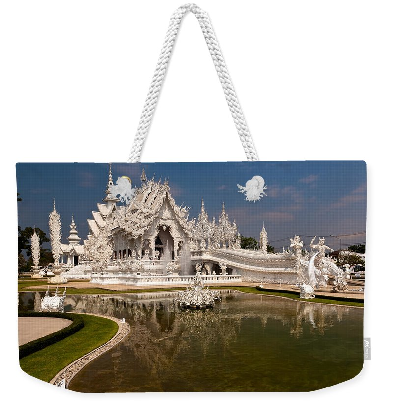 Asia Weekender Tote Bag featuring the photograph White Temple by Adrian Evans