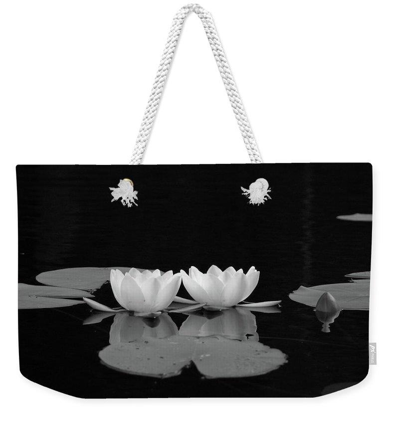 Lehtokukka Weekender Tote Bag featuring the photograph White Water-lily 7 by Jouko Lehto