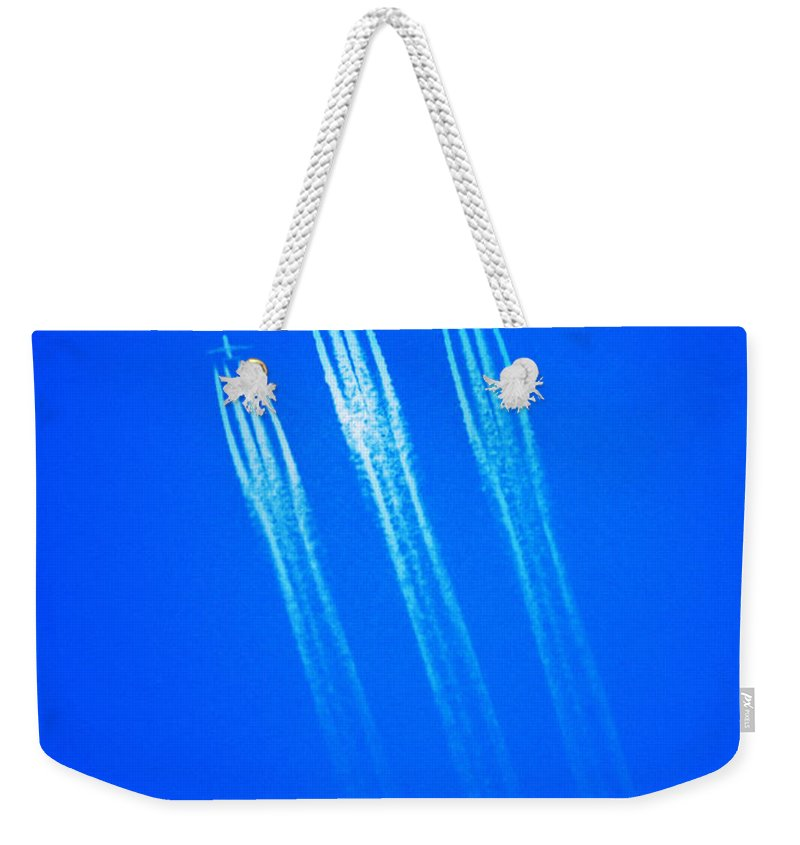 Wild Blue Yonder Weekender Tote Bag featuring the photograph Wild Blue Yonder by Bill Cannon