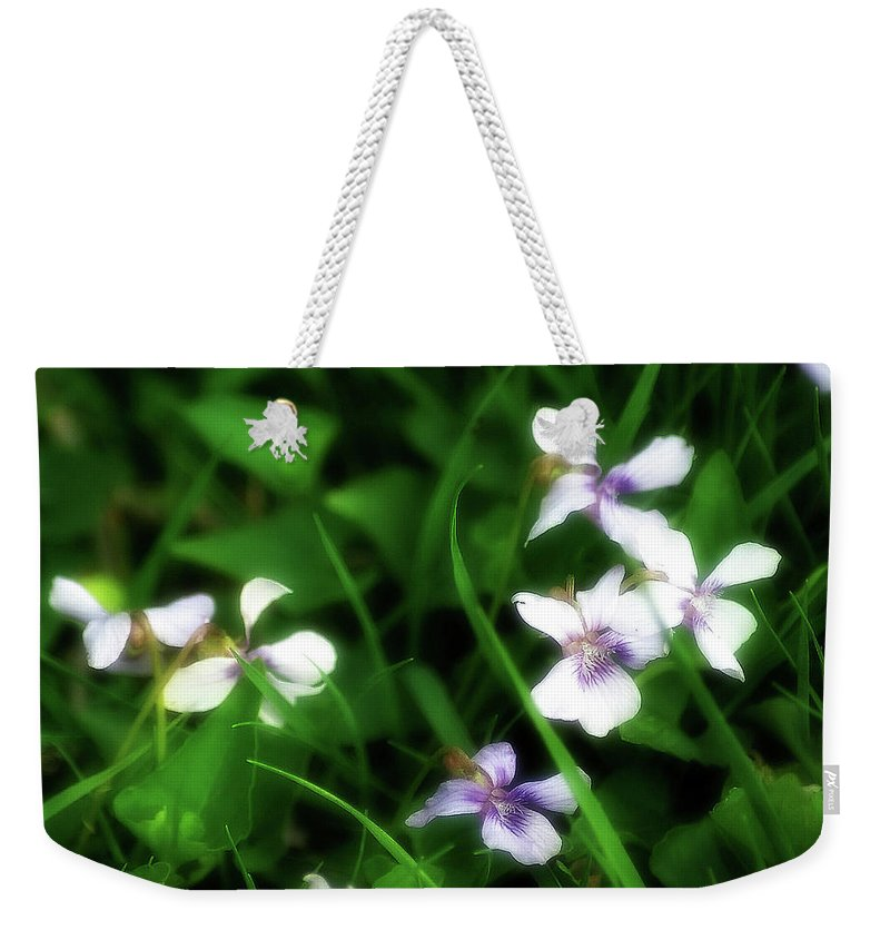2d Weekender Tote Bag featuring the photograph Wild Flowers by Brian Wallace