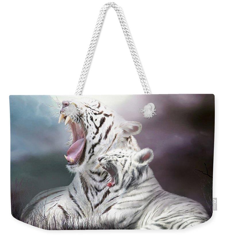 White Tiger Weekender Bag