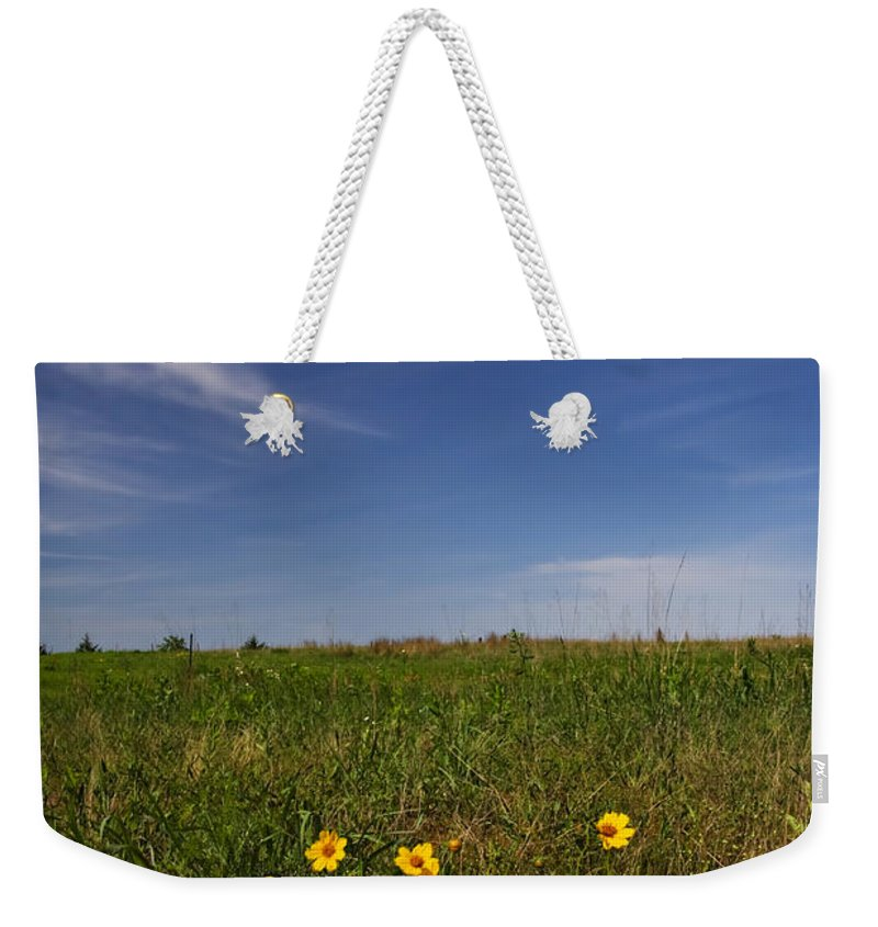 Flowers Weekender Tote Bag featuring the photograph Wildflowers by Ricky Barnard