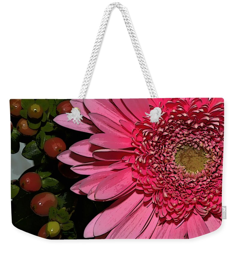 Flower Weekender Tote Bag featuring the photograph Wildly Pink Mum by Phyllis Denton