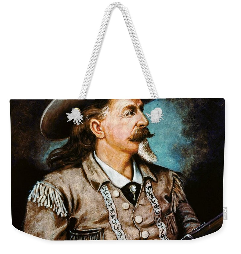 19th Century Weekender Tote Bag featuring the photograph William F. Cody by Granger