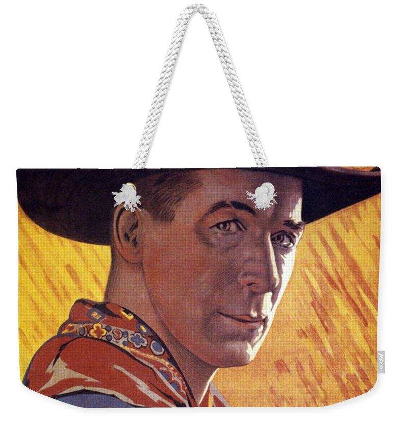 -nec06- Weekender Tote Bag featuring the photograph William Surrey Hart by Granger