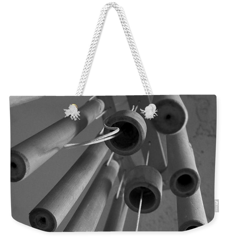 Windchime Weekender Tote Bag featuring the photograph Windchime 2 by David Weeks