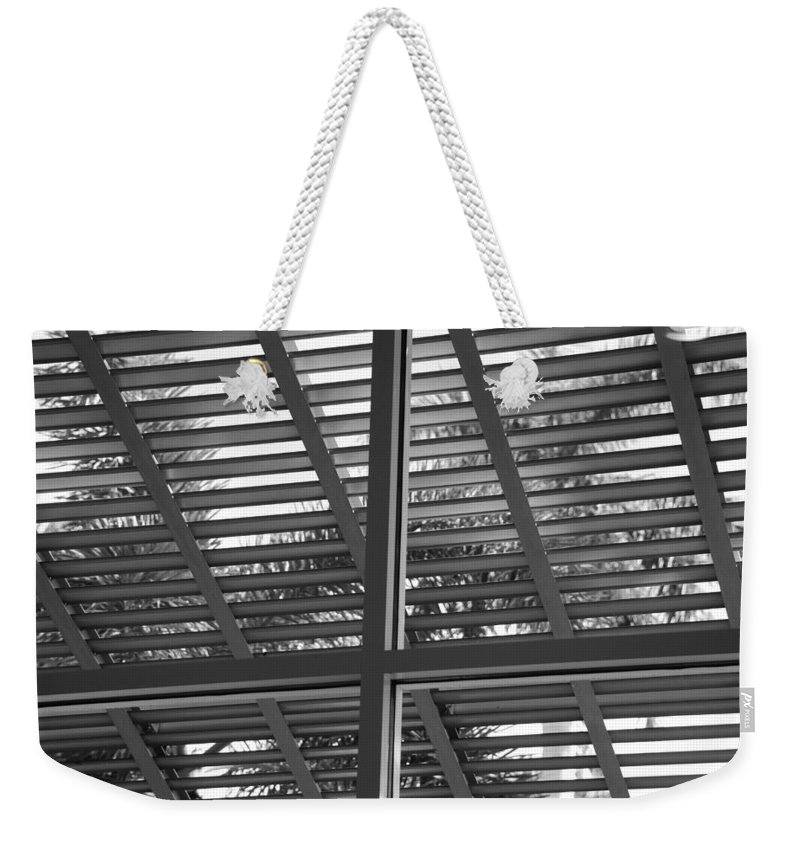 Black And White Weekender Tote Bag featuring the photograph Window Box by Rob Hans
