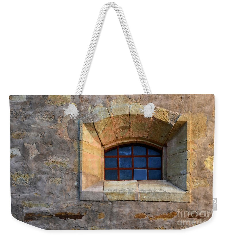 Coast Weekender Tote Bag featuring the photograph Window Detail At Carmel by Bob Christopher