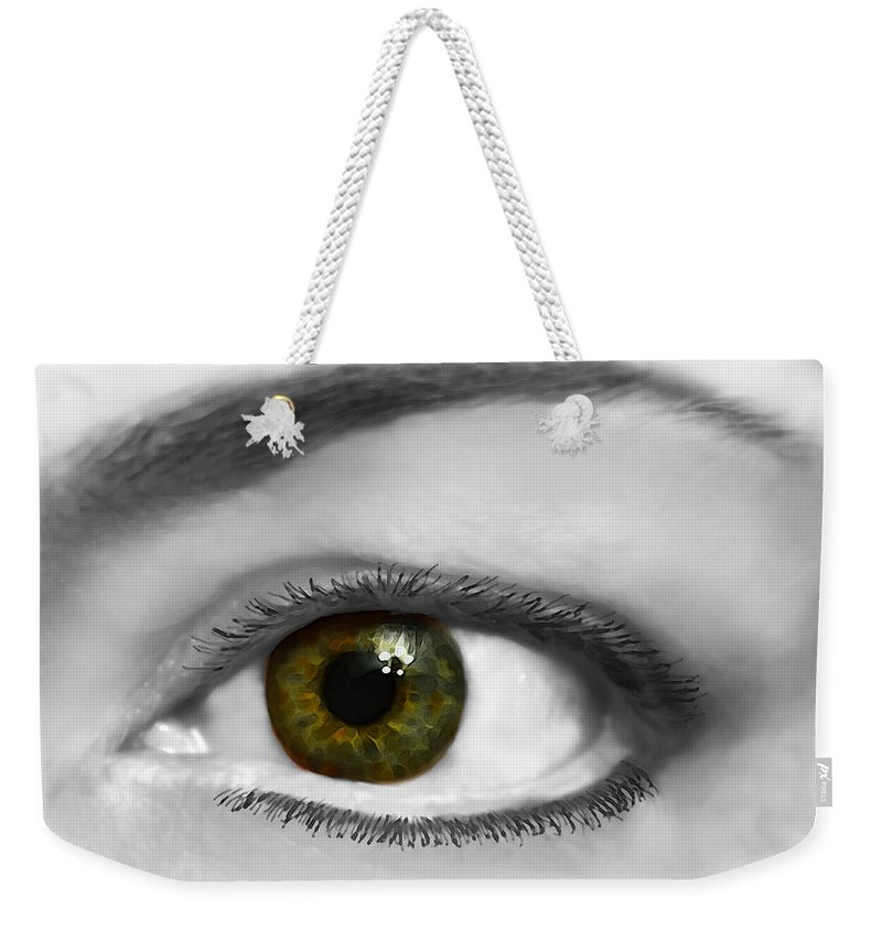 Prople Weekender Tote Bag featuring the photograph Window To The Soul by Debbie Portwood