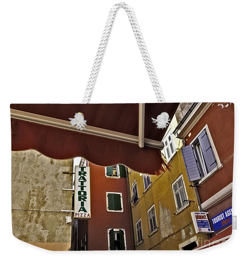 Venice Weekender Tote Bag featuring the photograph Windows In Venice by Madeline Ellis