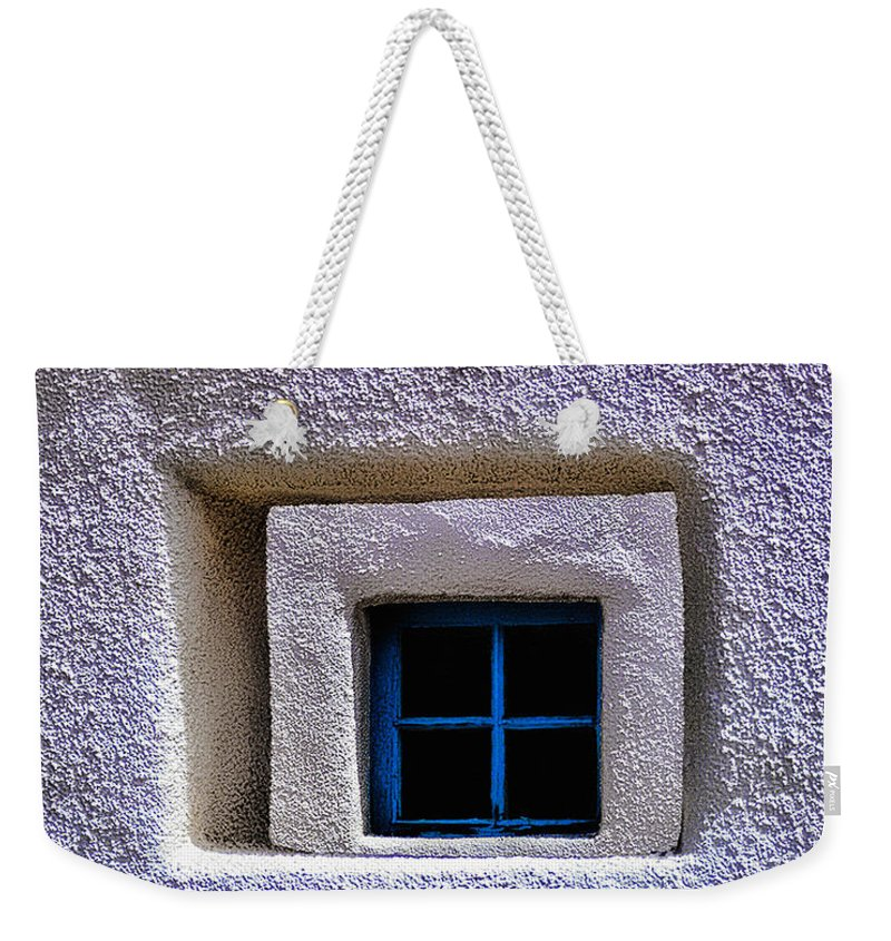Window Weekender Tote Bag featuring the photograph Windows Of Taos by Terry Fiala