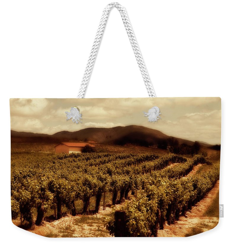 California Weekender Tote Bag featuring the photograph Wine Country by Peter Tellone