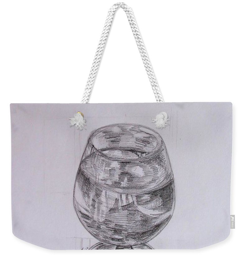 Still-life Weekender Tote Bag featuring the painting Wine Glass by Caroline Street