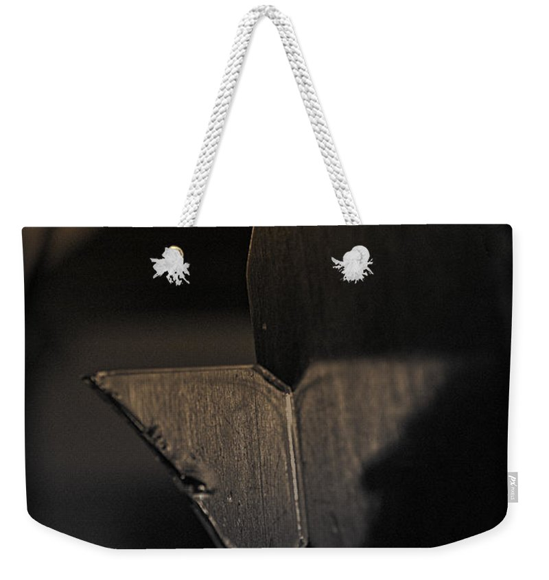 Abstract Weekender Tote Bag featuring the photograph Winged Thing by Susan Capuano