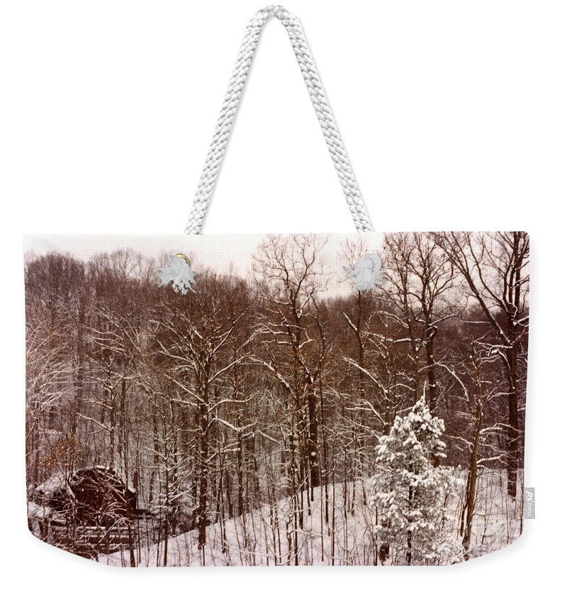 Snow Weekender Tote Bag featuring the photograph Winter by Carol Bradley