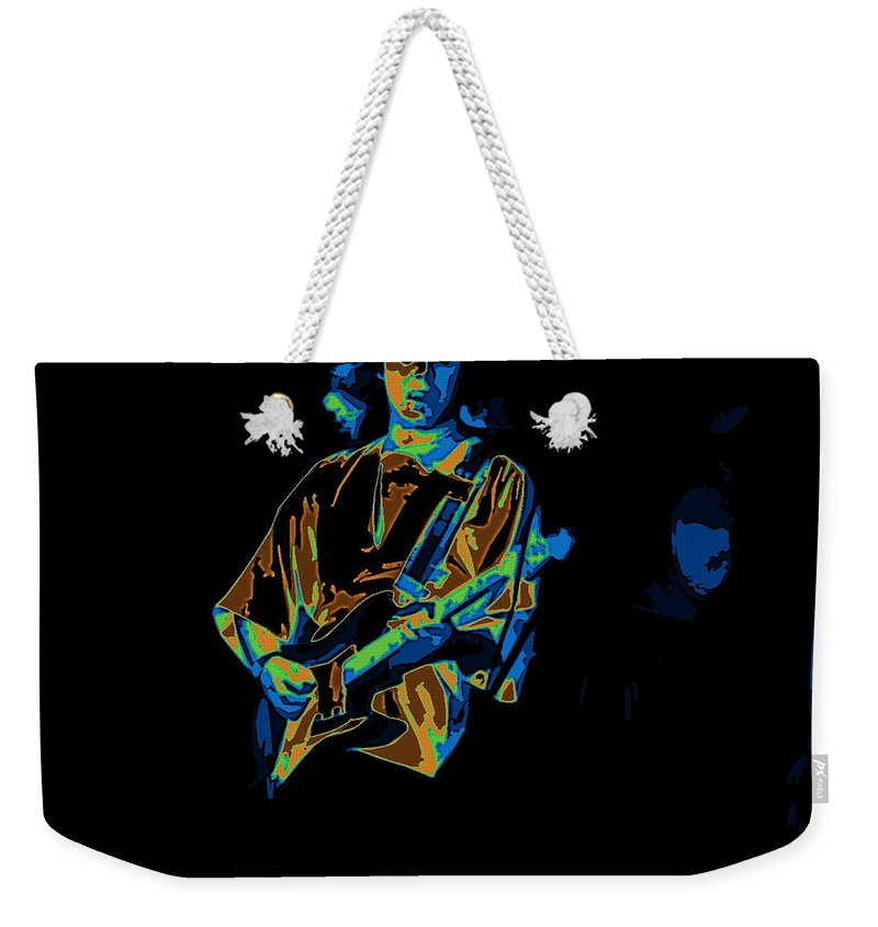 Tommy Bolin Weekender Tote Bag featuring the photograph Winterland Cosmic Grind by Ben Upham