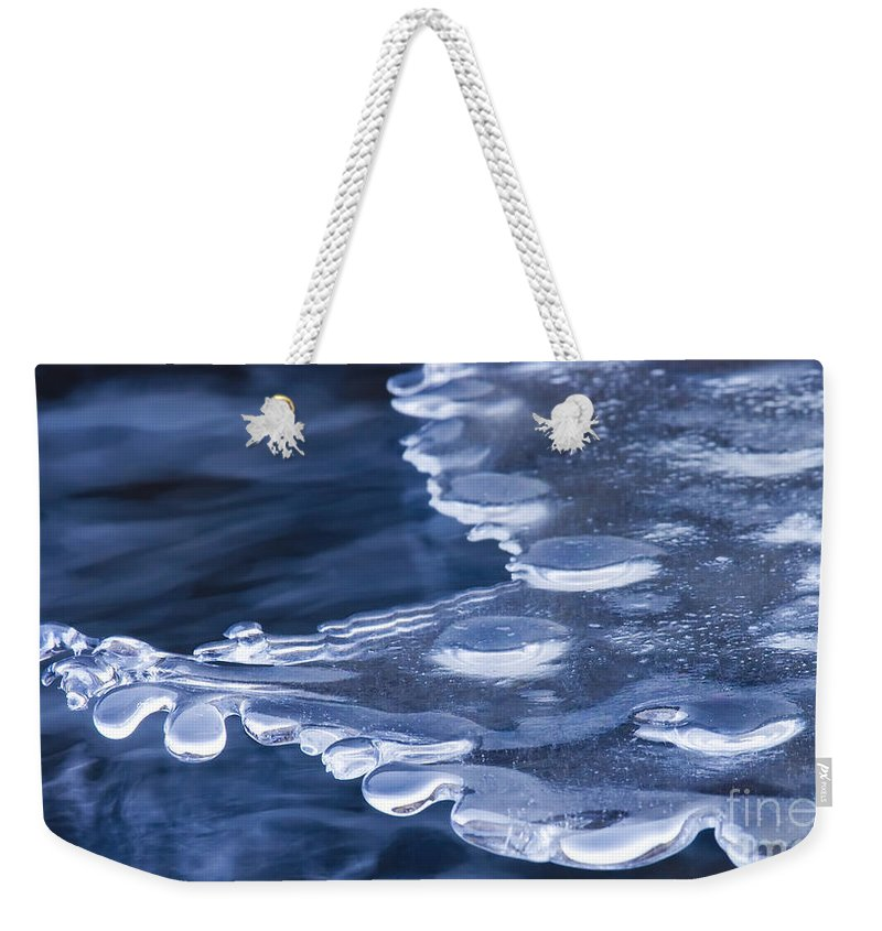 Ice Weekender Tote Bag featuring the photograph Winters Grip by Mike Dawson