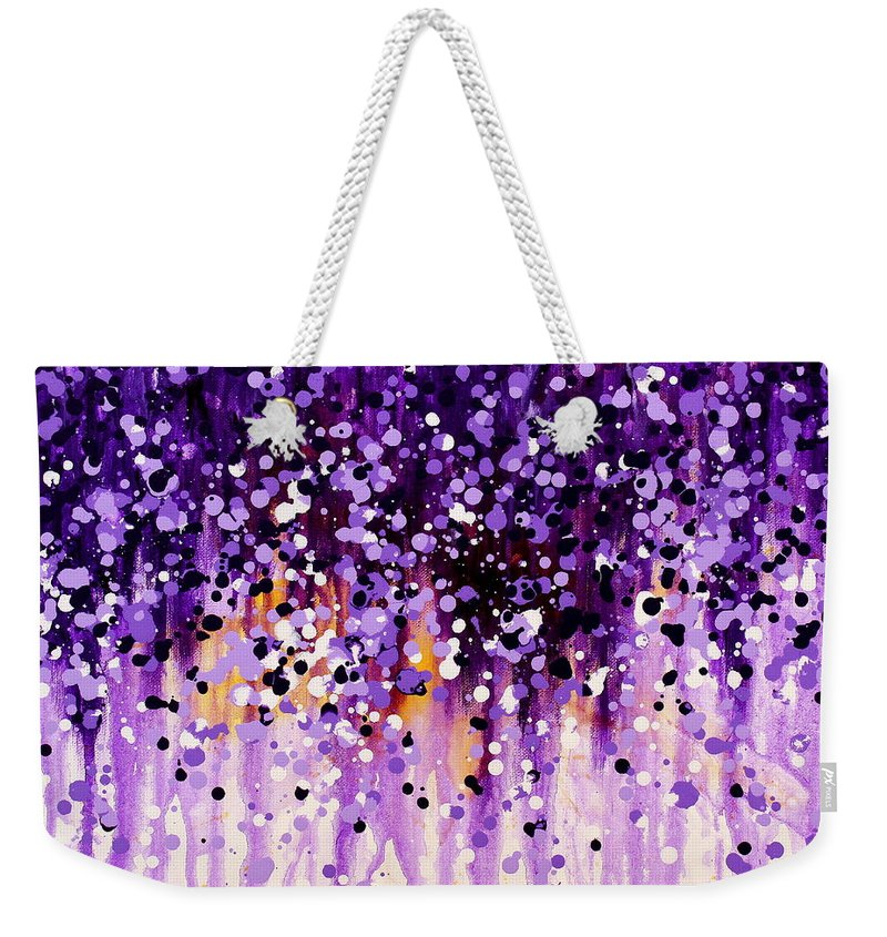 Floral Weekender Tote Bag featuring the painting Wisteria by Kume Bryant