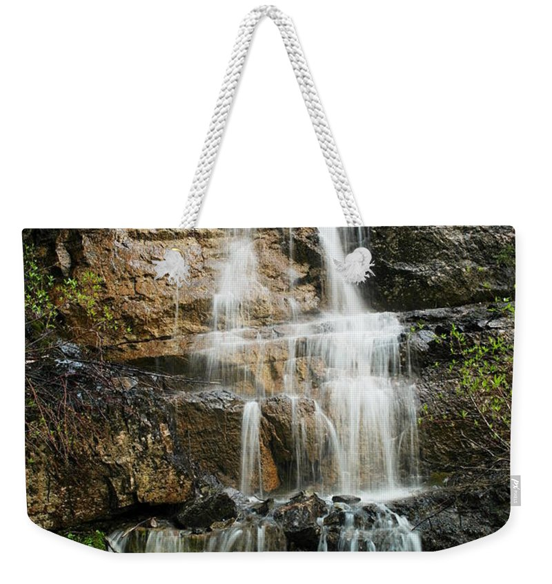 Freshets Weekender Tote Bag featuring the photograph With A Little Sound Of Music by Jeff Swan
