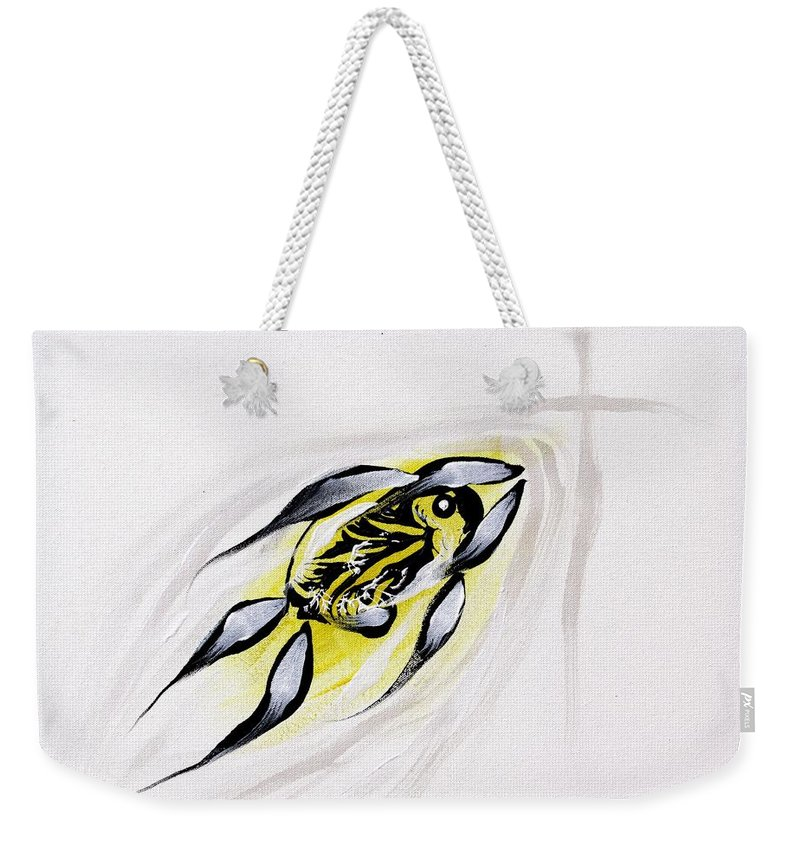Fish Weekender Tote Bag featuring the painting With A Pure Heart by J Vincent Scarpace