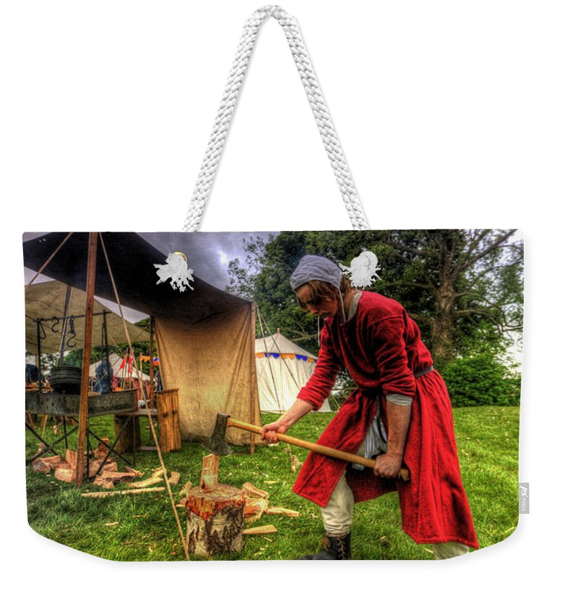 Art Weekender Tote Bag featuring the photograph Woodchopper by Yhun Suarez