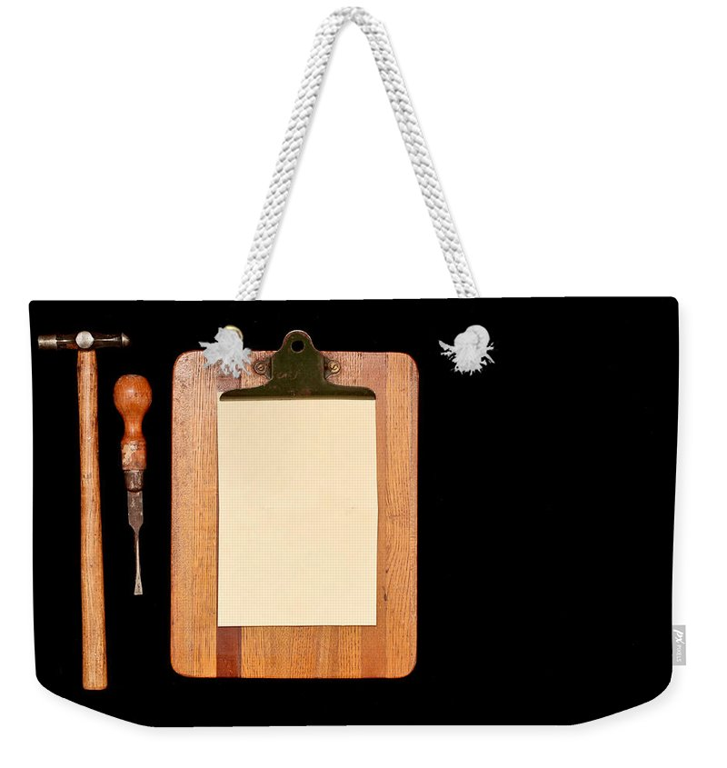 Antique Weekender Tote Bag featuring the photograph Work Tools by Tom Gowanlock