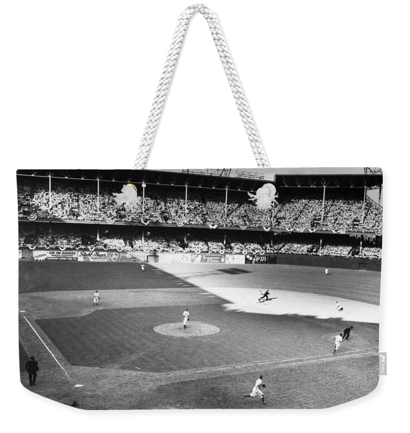 1941 Weekender Tote Bag featuring the photograph World Series, 1941 by Granger