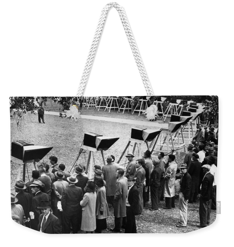 1948 Weekender Tote Bag featuring the photograph World Series, 1948 by Granger