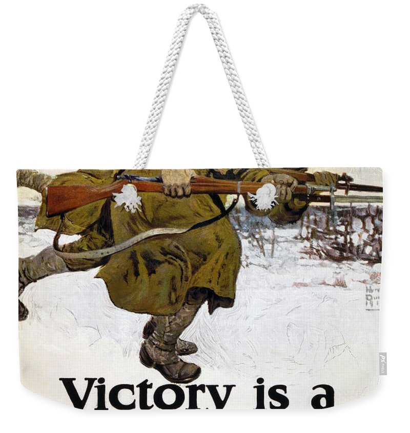 1917 Weekender Tote Bag featuring the photograph World War I: Poster, 1917 by Granger