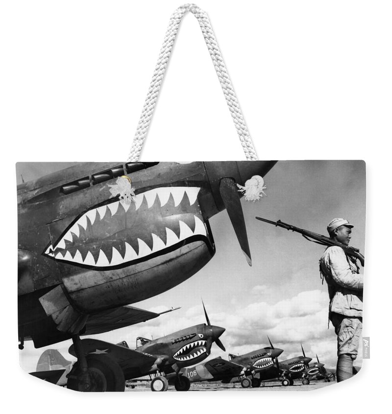 1943 Weekender Tote Bag featuring the photograph World War II: China, 1943 by Granger