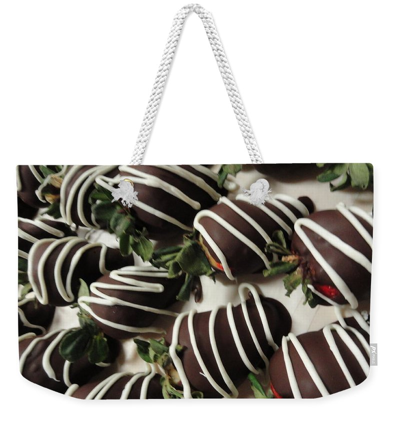 Photograph Weekender Tote Bag featuring the photograph Wrapped In Chocolate by Shannon Grissom