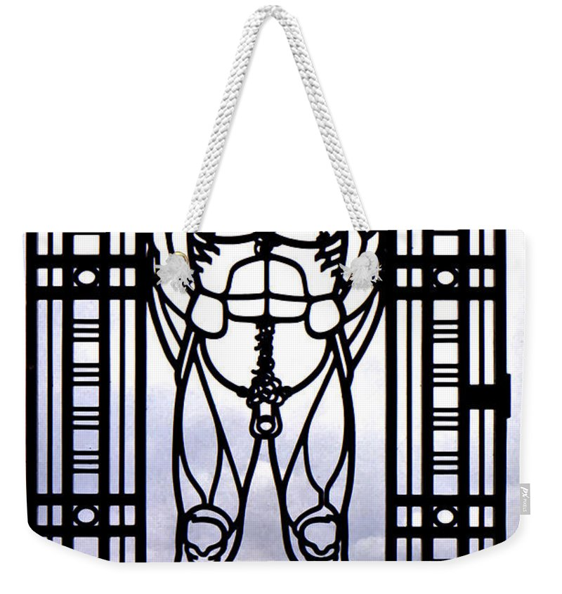 Gustav Vigeland Weekender Tote Bag featuring the photograph Wrought Iron Gate by Steve Harrington