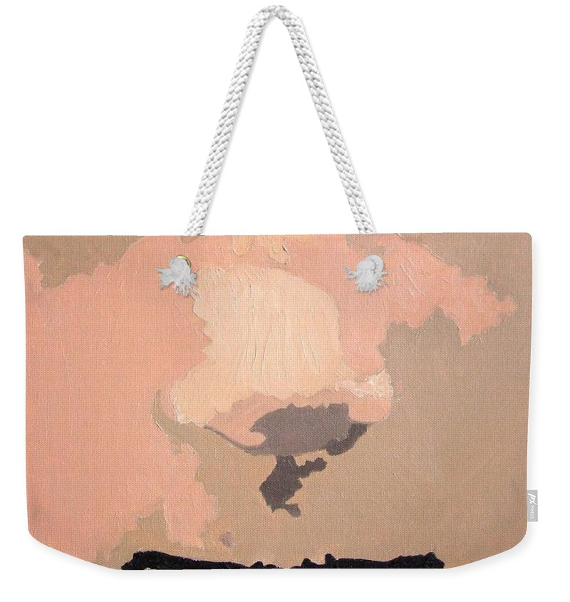Portrait Weekender Tote Bag featuring the painting XON by Alfie Borg