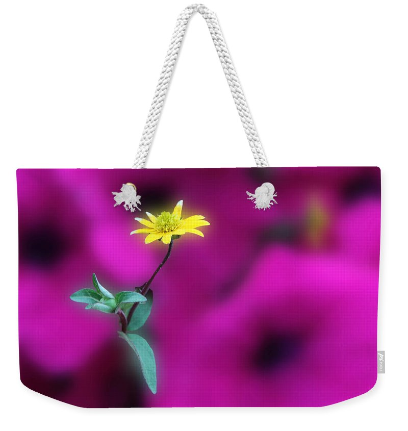Acrylic Prints Weekender Tote Bag featuring the photograph Yellow by John Herzog