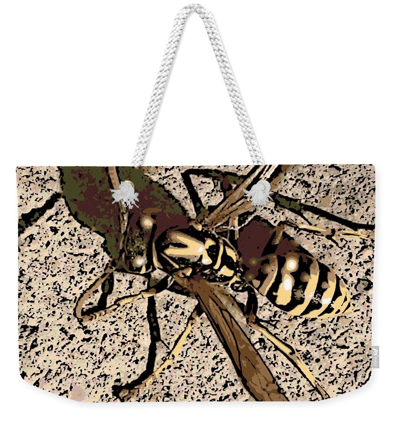 Yellowjacket Weekender Tote Bag featuring the photograph Yellowjacket by George Pedro