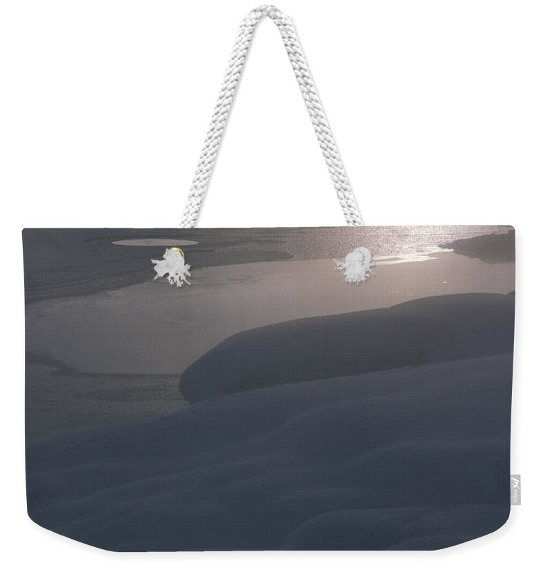 Bronstein Weekender Tote Bag featuring the photograph Yellowstone Lake Sunrise by Sandra Bronstein