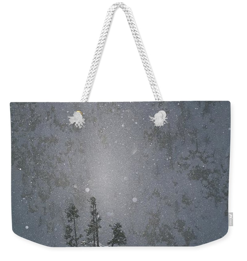 North America Weekender Tote Bag featuring the photograph Yellowstone National Park, Winter View by Norbert Rosing